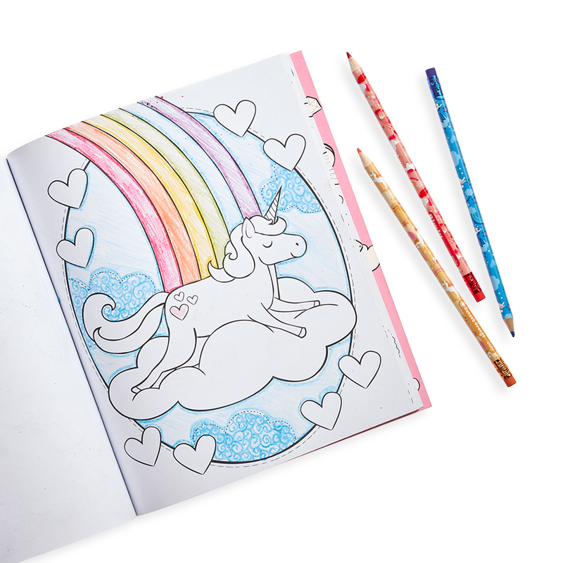 Unicorn colored artwork from the Unique Unicorns Erasable Colored Pencils - Set of 12