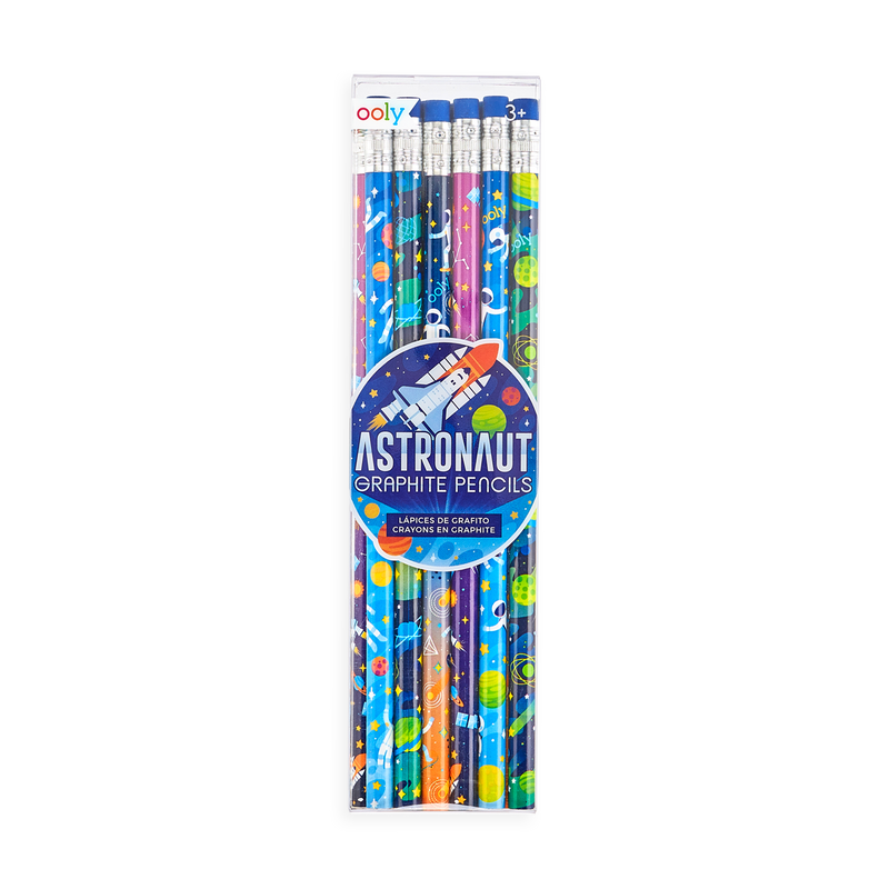 OOLY Astronaut graphite pencils in packaging