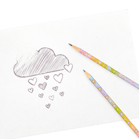Writing with OOLY Rainboow Glitter Graphite Pencils
