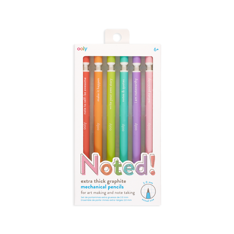 OOLY Noted mechanical pencils set of 6 in packaging