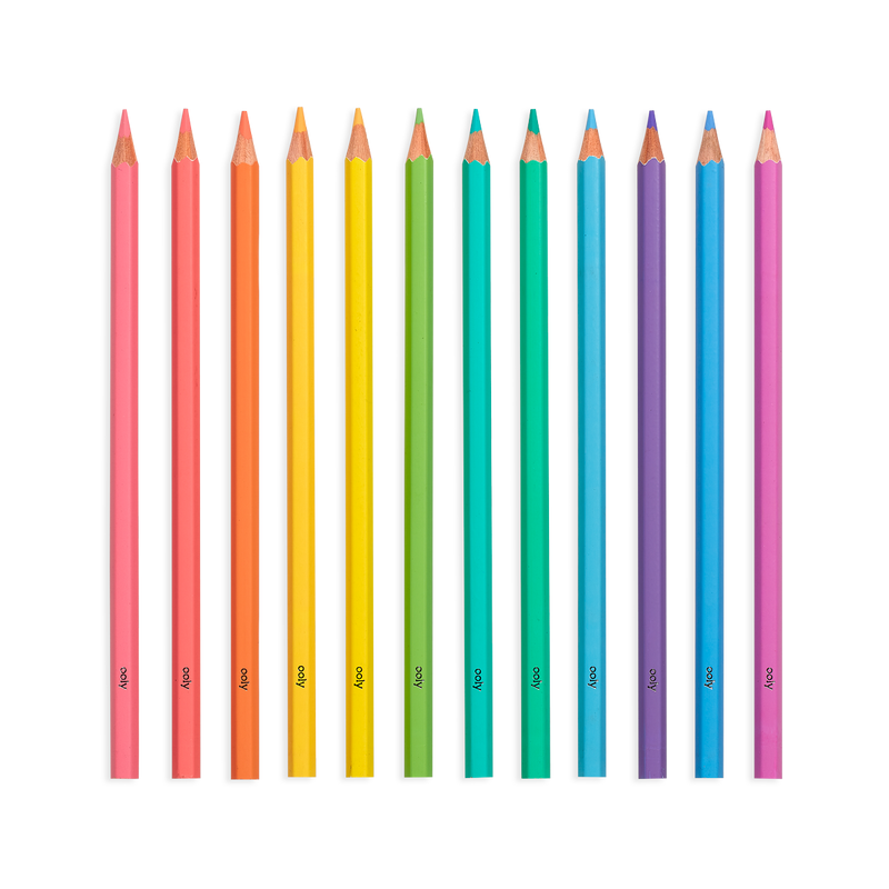 OOLY Pastel Hues colored pencils set of 12 without packaging
