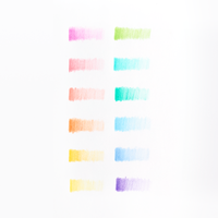 OOLY Pastel Hues colored pencils set of 12 color swatch