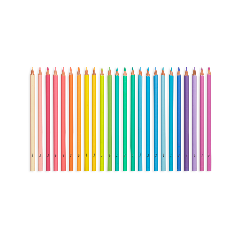 OOLY Pastel Hues colored pencils set of 24 without packaging