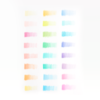 OOLY Pastel Hues colored pencils set of 24 color swatch