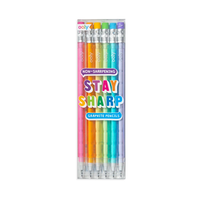OOLY Stay Sharp stacking graphite rainbow pencils