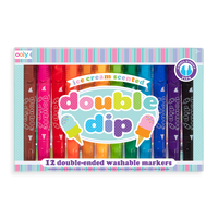 Double Dip Scented Markers are a set of 12 double ended colored markers.
