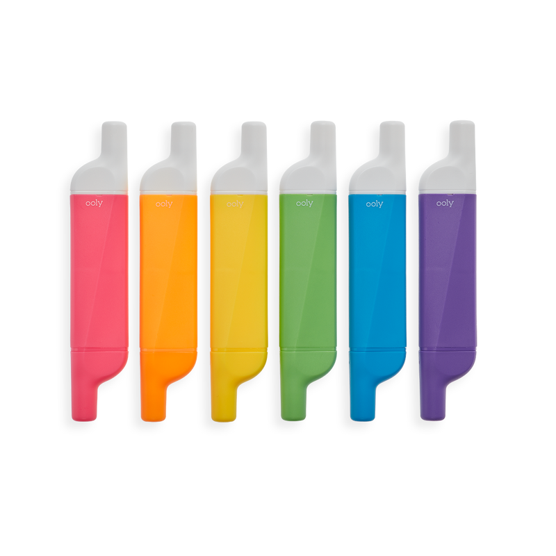 Image of Do-Overs Erasable Highlighters lined up in a row