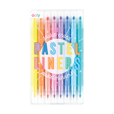 Pastel Liners Dual Tip marker and highlighter set