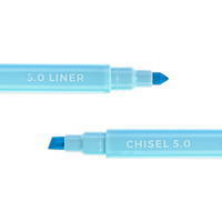 Blue Pastel Liner marker showing chisel tip and liner tip