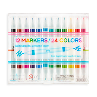 Image of Drawing Duet Double Ended Markers in package (back)