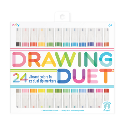 OOLY Drawing Duet double ended markers 24 colors set of 12
