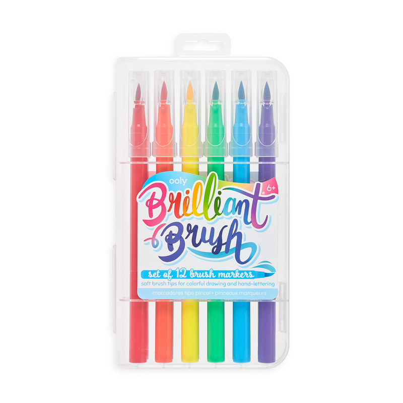 Brilliant Brush Markers - Set of 12