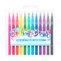 Brilliant Brush Markers - Set of 24 in case