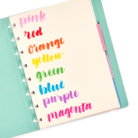 Rainbow journaling with the Brilliant Brush Markers