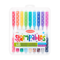 SOOLY Stampables Scented Double-Ended Stamp Markers - Set of 18 in package