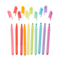 Pastel Mints Scented Highlighters in a row with caps off