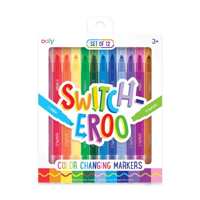 OOLY Image of Switch-Eroo Color Changing Markers in new packaging