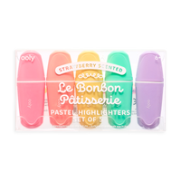 OOLY Le Bonbon Pâtisserie Scented Pastel Highlighters in package