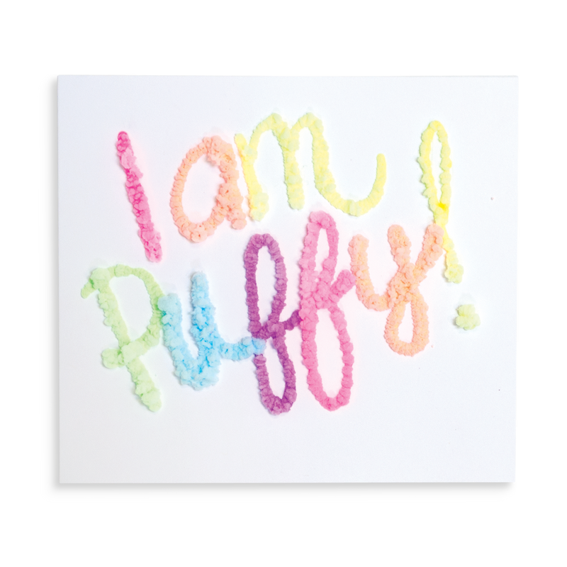 """I am puffy"" written with Magic Puffy Pens"