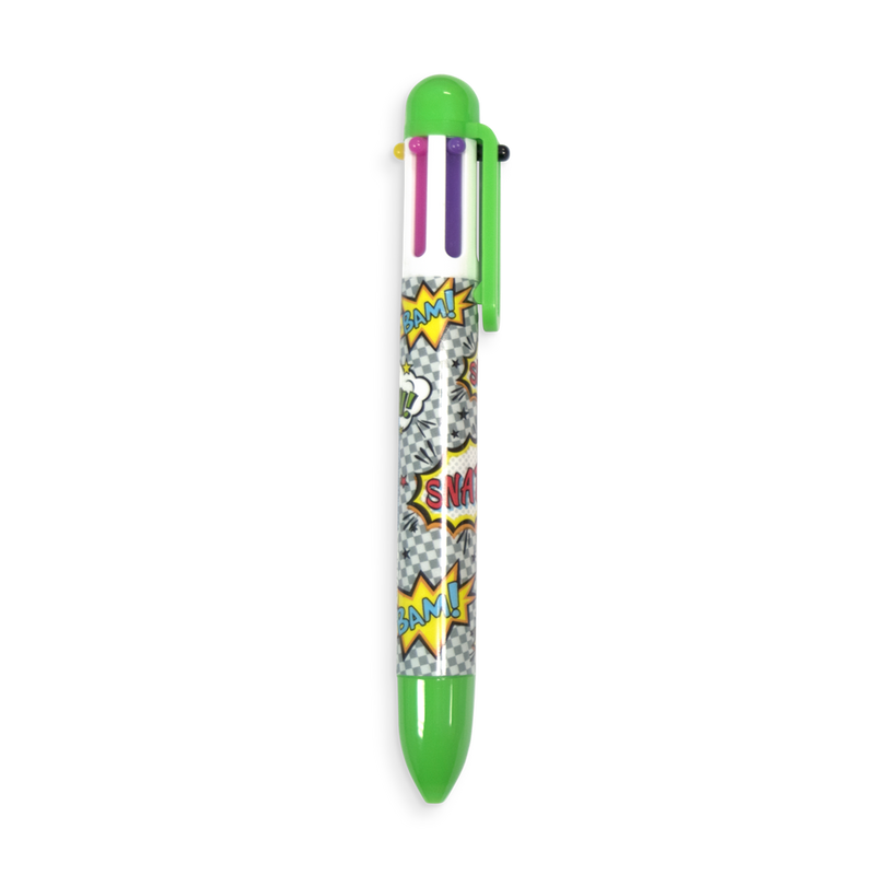 Green Comic Attack 6 Click multi color pen