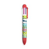 Red Comic Attack 6 Click multi color pen