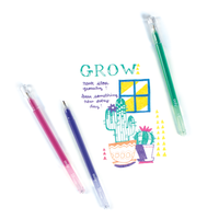 """Grow"" message and drawing made with Radiant Writers glitter gel pens"