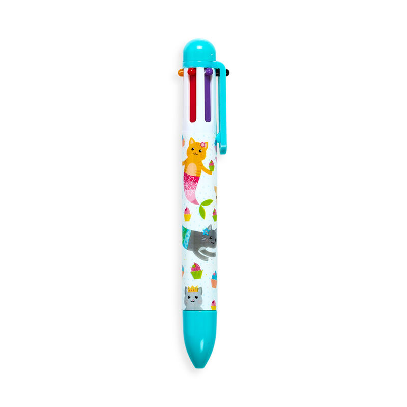 Teal colored Mermaid Magic 6 Click Multi Color Pen
