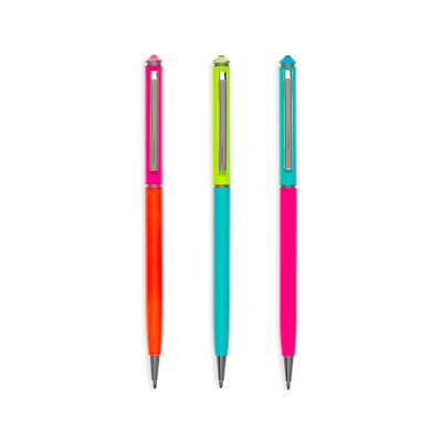Style Writers Metal Neon Ballpoint Pens by OOLY
