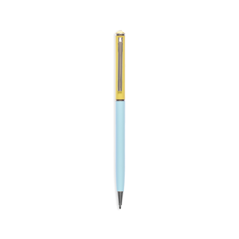 OOLY Style Writers Metal Pastel Ballpoint Pen in yellow