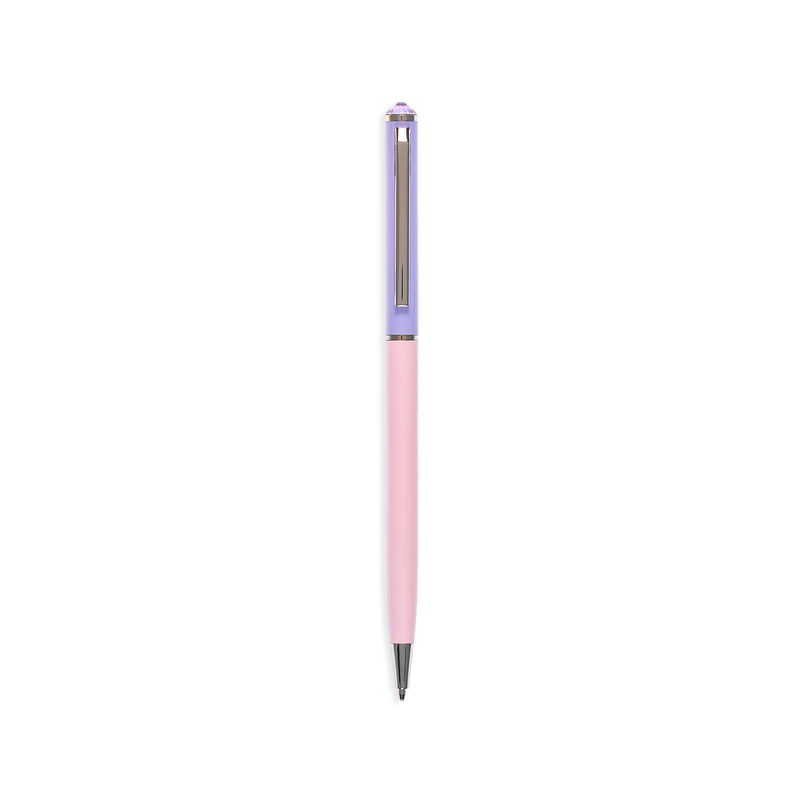 OOLY Style Writers Metal Pastel Ballpoint Pen in purple