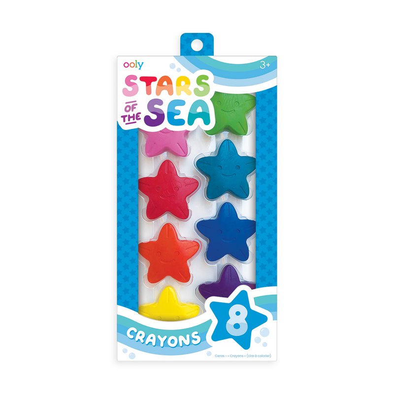 OOLY Stars Of The Sea Starfish Crayons - Set of 8