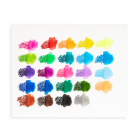 Artwork swatches sampling the Smooth Stix Watercolor Gel Crayons color and watercolor effect