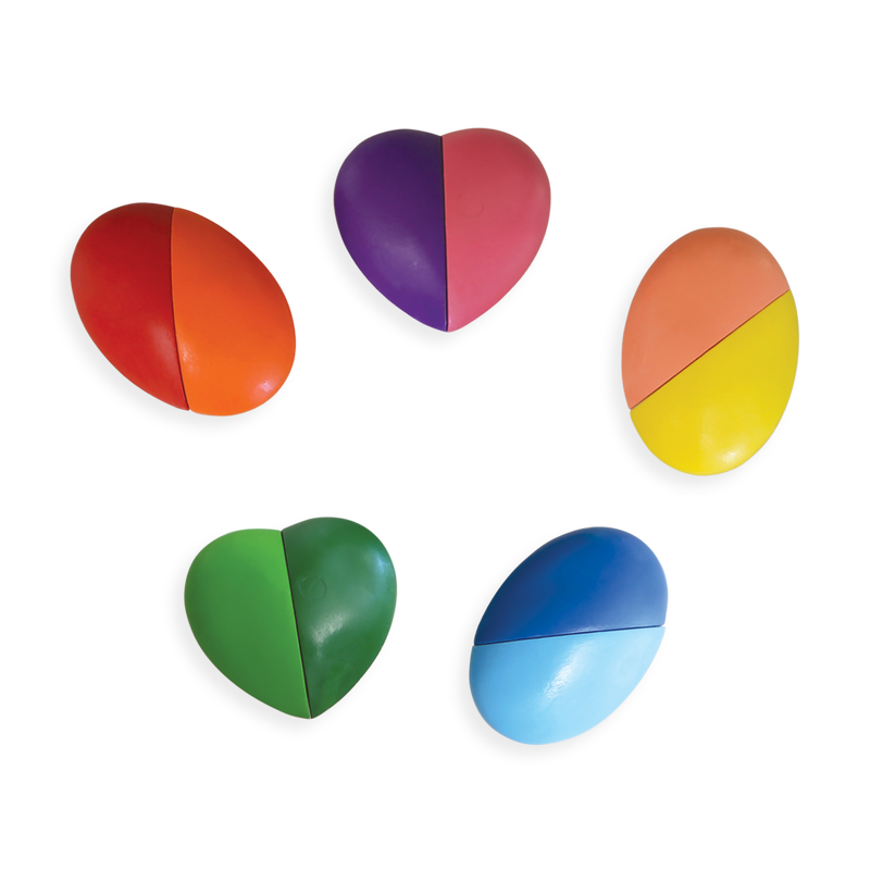 Erasable heart shaped crayons Set of  12 colors