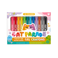 OOLY Cat Parade Gel Crayons - Set of 12 in packaging