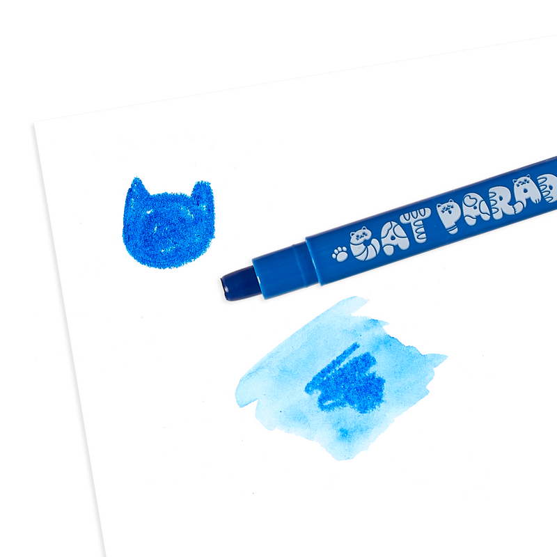 OOLY Cat Parade Gel Crayon in use