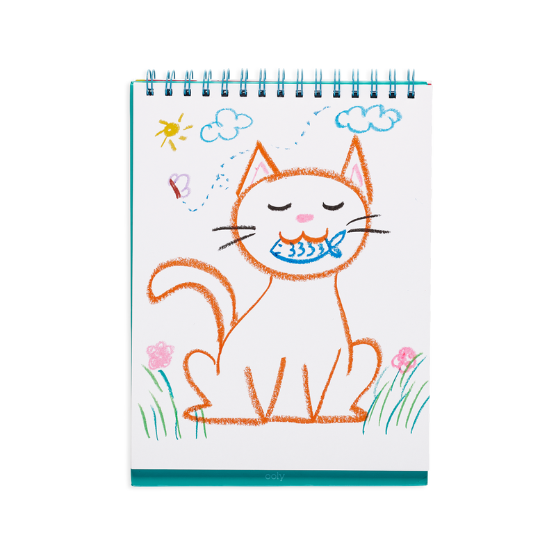 OOLY Cat Parade Gel Crayons in use