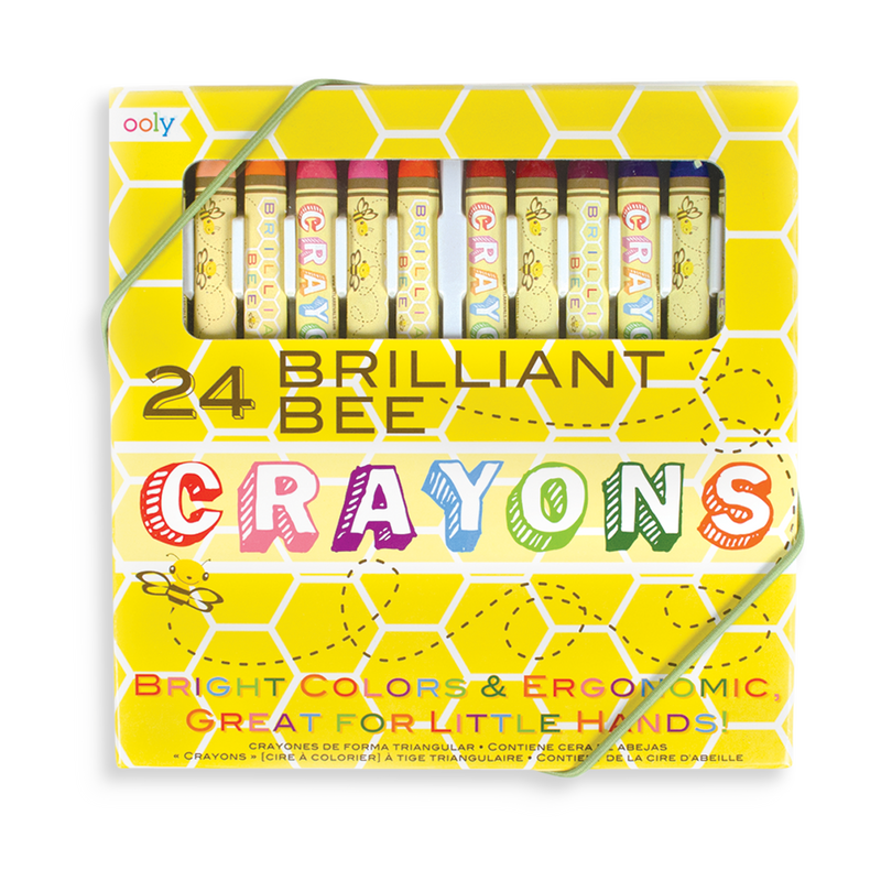 Brilliant Bee Crayons set of 24 bright colored crayons