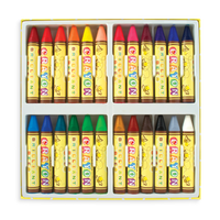 Opened set of Brilliant Bee Crayons