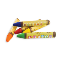 4 Brilliant Bee Crayons in a small stack