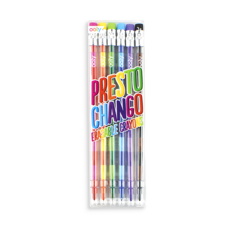 Set of 6 Presto Chango erasable crayon pens