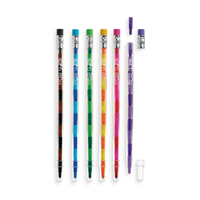 6 multi-colored erasable crayon pens from the Presto Chango Crayon set