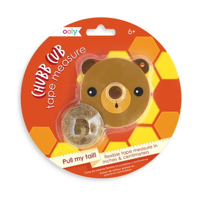 Chubb Cub Measuring Tape in a cute bear cub casing
