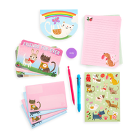 Display image of the On-The-Go Travel Stationery Kit - Paw Pals contents