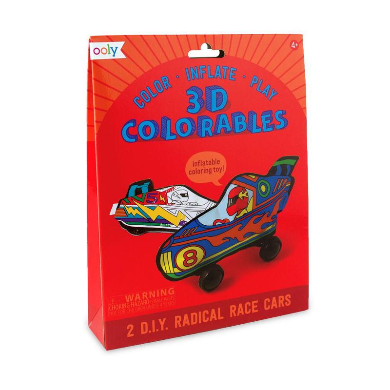 3D Colorables Radical Race Cars. 2 race cars in a set.