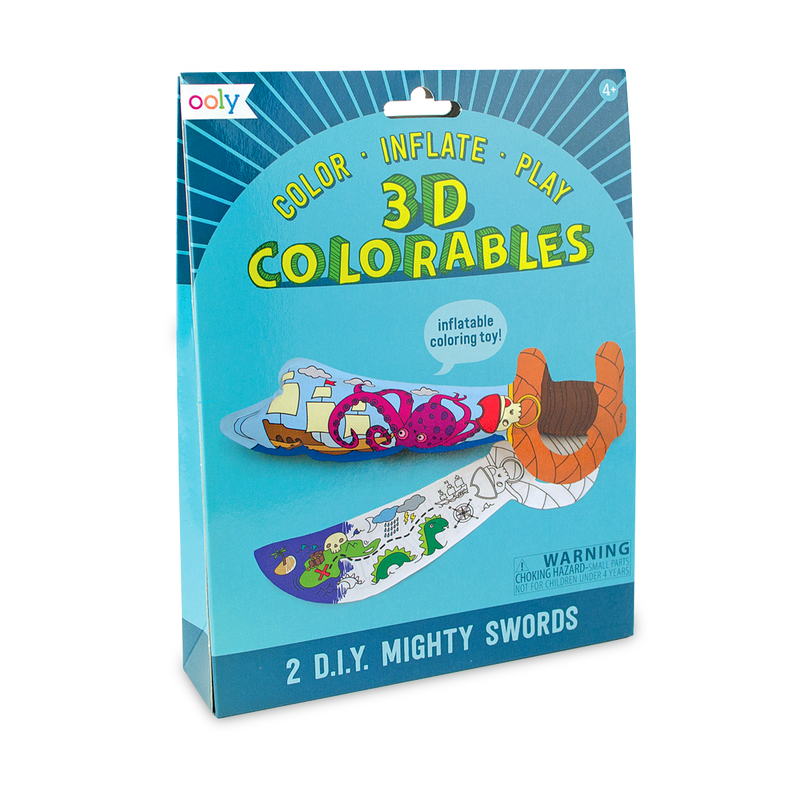 Mighty Swords 3D Colorables. DIY paper coloring toys.