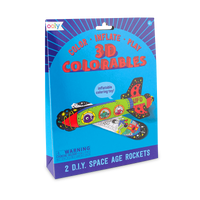 Package set of 2 Space Age Rockets from 3D Colorables