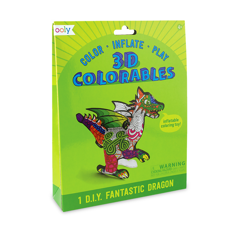 3D Colorables Fantastic Dragon. Color, inflate, play.