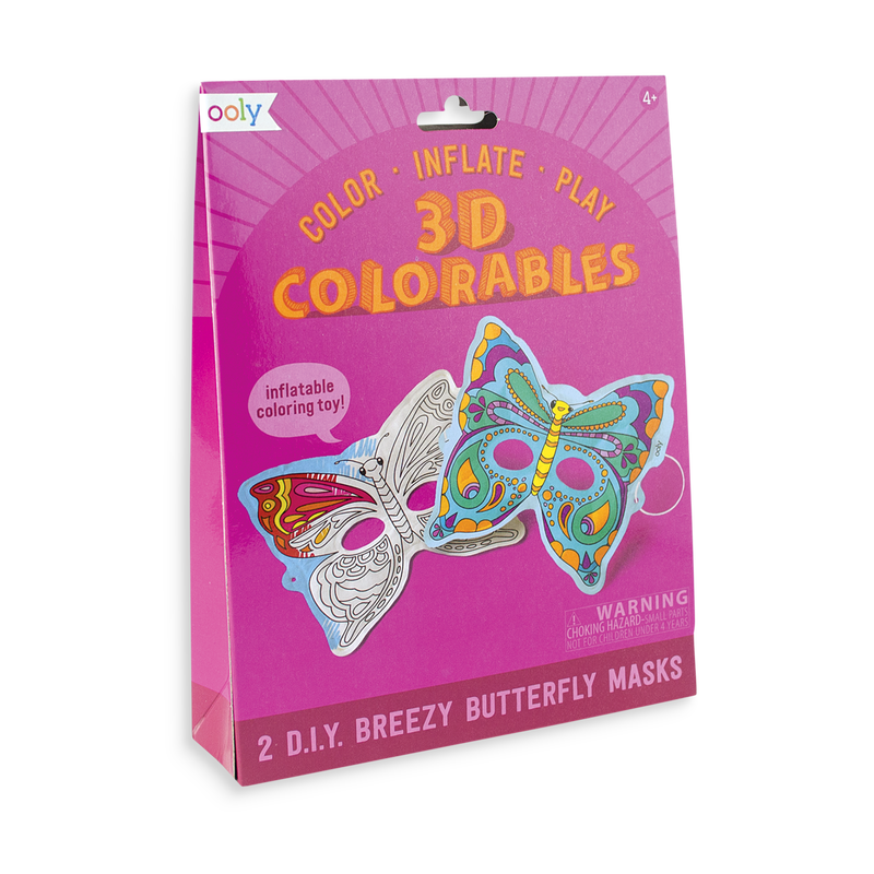 3D Colorables Breezy Butterfly Masks. 2 in a set.