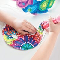 Childs hand coloring 3D Colorables