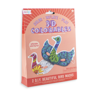 3D Colorables Beautiful Birds colorable masks